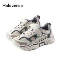 Otoño 2019 niños deporte Zapatillas niños Casual zapatillas bebé niñas suaves gruesas zapatillas niños malla blanco marca zapatos zapatillas