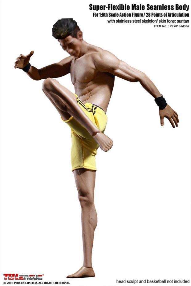 Collection TBLeague 2018 M36A 1/6 Flexible sans couture mâle asiatique mâle étoile suntan musclé modèle de corps M36A M36B modèle de corps jouet