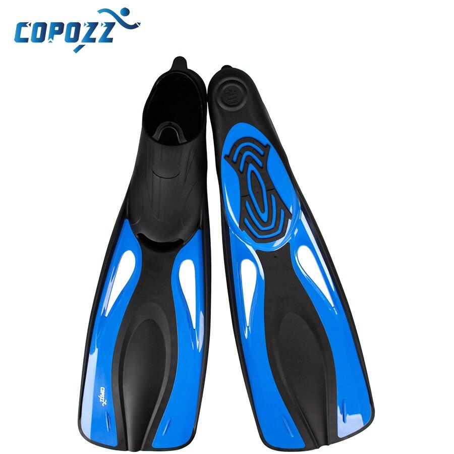 Copozz PP TPR palmes de natation longues palmes de plongée palmées piscine d'entraînement palmée Aletas Nadadeira hommes femmes bottes chaussures bota - 2