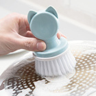 Cartoon Round Small Palm Cleaning Brush, PP Bristles Wet Cleaning Scrubber Wash Dishes, Pots, Pan, Countertop Household Cleaning