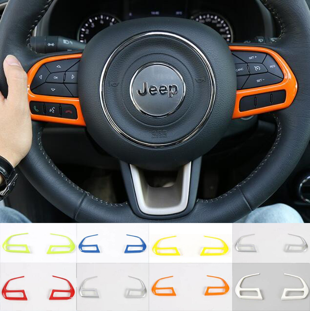 Interior Jeep Renegade Indonesia: Newest Steering Wheel Function Button Trim Cover