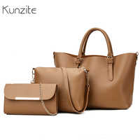 3PCS Women Composite Bag Set Purses And Handbags Female Large Capacity Tote Messenger Bags Chains Ladies Shoulder Crossbody Bag