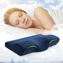 Peter Khanun Butterfly Shaped Memory Pillows Relax Cervical Spine Neck Health Care Slow Rebound Foam Bedding Pillow 035