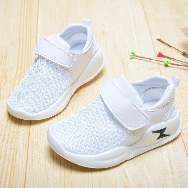 דימי 2019 אביב/סתיו ילדי נעלי בני בנות נעליים יומיומיות אופנה רשת נעליים לנשימה רך נוח ילדים נעלי