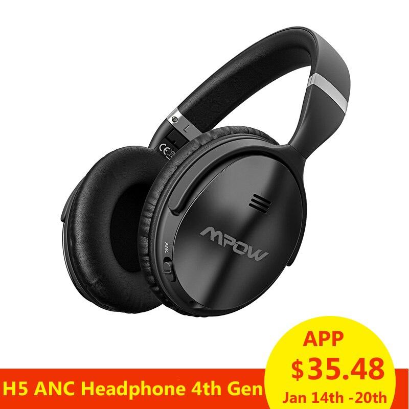 Mpow H5 ANC Aktive Noise Cancelling Wireless Bluetooth Kopfhörer Hallo-fi Stereo Headset Mit Tragen tasche Für iphone X Huawei Telefon