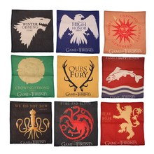 Game of Thrones House Sigils Family Crest Throw Pillows Case Linen Cotton for home Covers 43cm