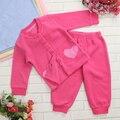 Prendas de Vestir Exteriores Del Niño del Bebé de Lana Polar Conjunto Suave y Cálida en Primavera Otoño