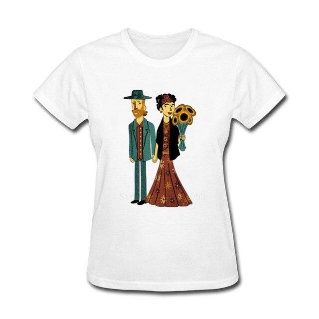 Love is Art Frida Kahlo T Shirt Creator Hot Cheap Women's O Neck T ...