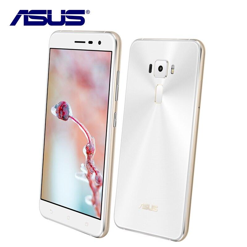 Nouveau Asus ZenFone 3 ZE552KL 64 GB ROM 4 GB RAM Mobile Téléphone Octa base Android 6.0 Qualcomm 5.5 ''1080 P 16.0MP 2.5D Double Sim carte