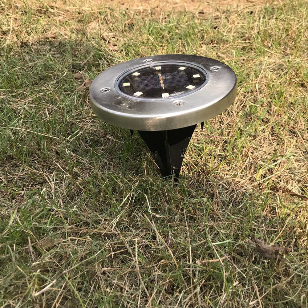 Outdoor Solar Lights In Ground: Solar Power Buried Light Under Ground Lamp Outdoor Path