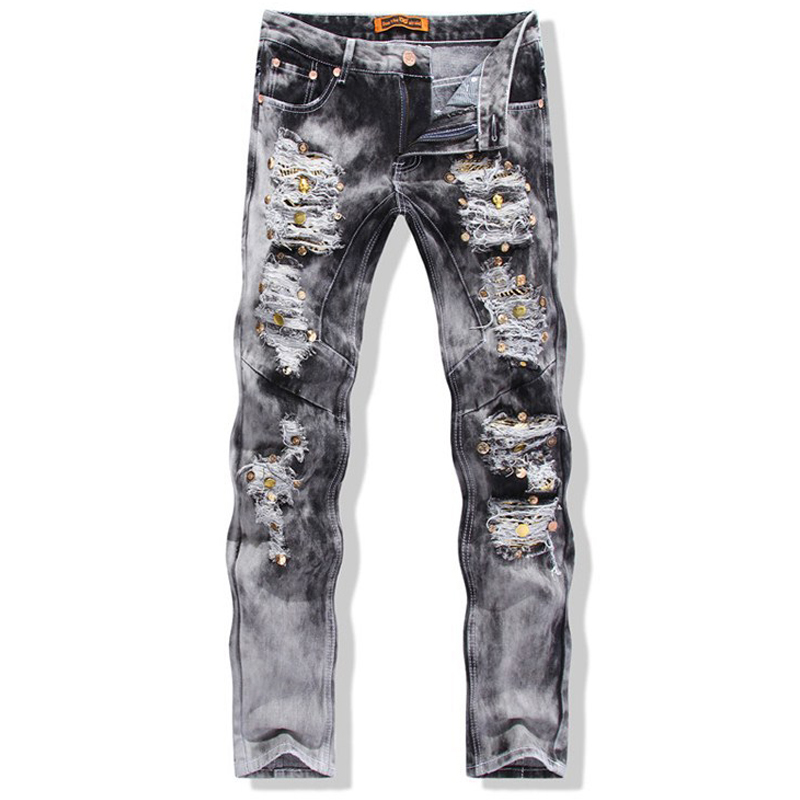Ripped Grey Jeans for Men Promotion-Shop for Promotional Ripped ...