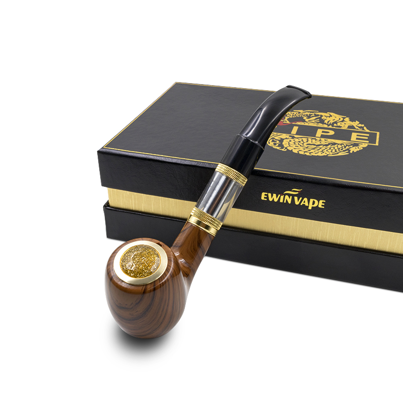 Electronic Cigarette e Pipe 618 epipe 618 Kit Ewinvape electronic smoking pipe with wooden mod 2.5ml atomizer 18350 battery durable imitation ivory cigarette holder 13mm filter smoking pipe man s gift