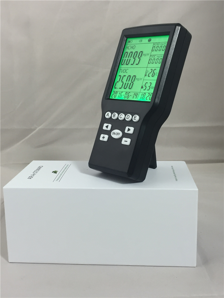 LCD digital Formaldehyde Gas detector Sound Alarm Gas detector for air monitoring uyigao ua506 for ppm htv digital formaldehyde test methanol concentration monitor detector withlcd display sound and light alarm