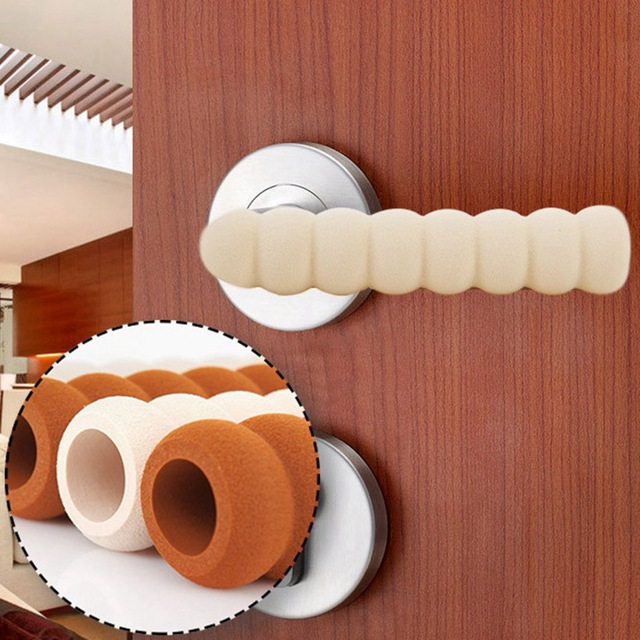 1pc Room Door Knob Covers Pad Cases Spiral Anti-Collision Security Door Handle Protect Cover Baby Children Kids Safety Supplies
