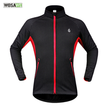 WOSAWE Fleece Thermal Winter Wind Cycling Jacket Windproof Bike Bicycle Coat Ciclismo Clothing Long Sleeve Jersey wosawe cycling windbreaker jacket cycling motocross riding outwear lightweight waterproof coat mtb bike jersey reflective coat