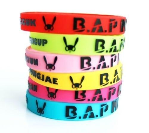 Ambitious 6pcs/lot Kpop B.a.p Bap Matoki Zelo Member Yongguk Silicone Wristband Bracelet X6 New Gift Men's Arm Warmers
