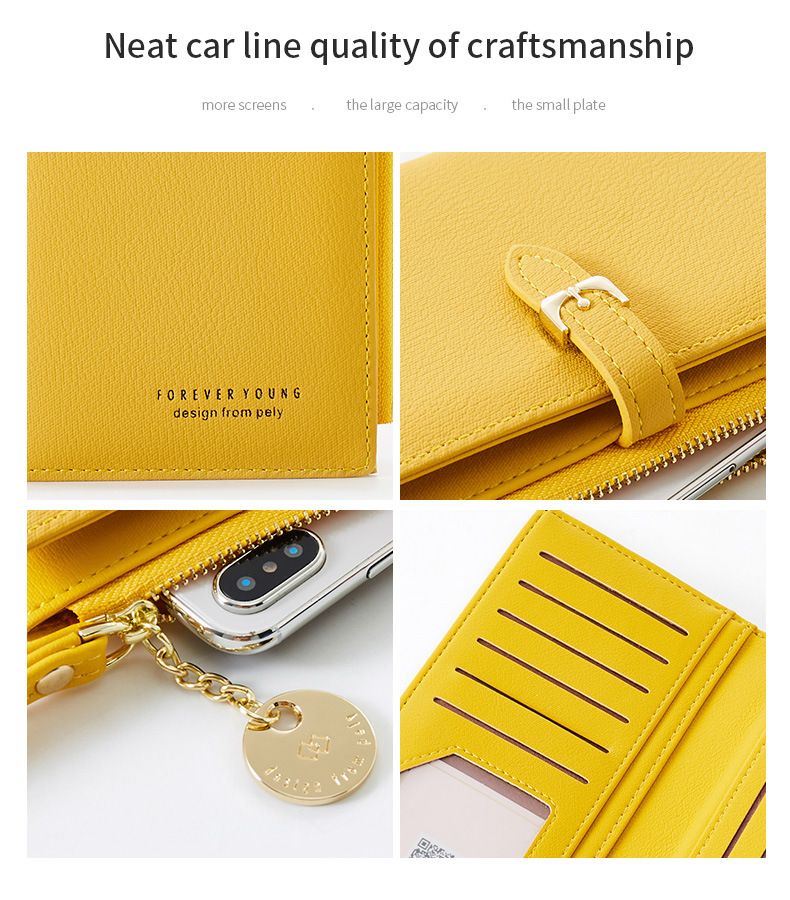 Women Long Wallet Many Departments Female Wallets Clutch Lady Purse Zipper Phone Pocket Card Holder Ladies Carteras 37