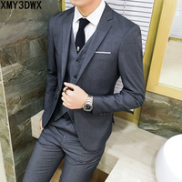 2014 High Grade Brand Men S Slim Fit Business A Three Piece Suits Male Good Groom