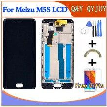 """ЖК дисплей с рамкой для 5,2 """"Meizu M5S meilan, M612H, M612M, белый/черный экран с цифровым преобразователем, сенсорный экран для MEIZU M5S mini"""