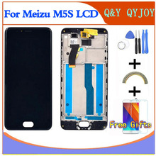 "LCD + ramka do 5.2 ""Meizu M5S meilan 5S M612H M612M biały/czarny ekran + ekran dotykowy Digitizer do MEIZU M5S mini LCD"