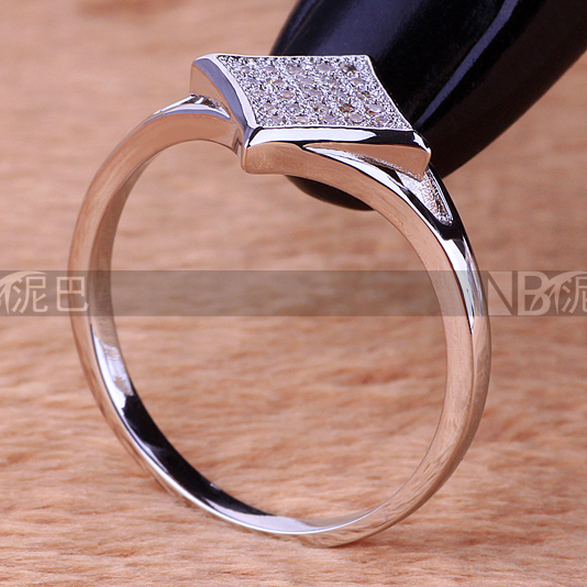 Best gifts fashion rings for women 2015 White Zircon lady jewellry Exquisite CZ Lady Rings