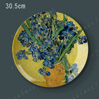 12 Van Gogh Painting Creative Dish Of Ceramic Dish Plate Hanging Wall Hangings Western Dessert Dish