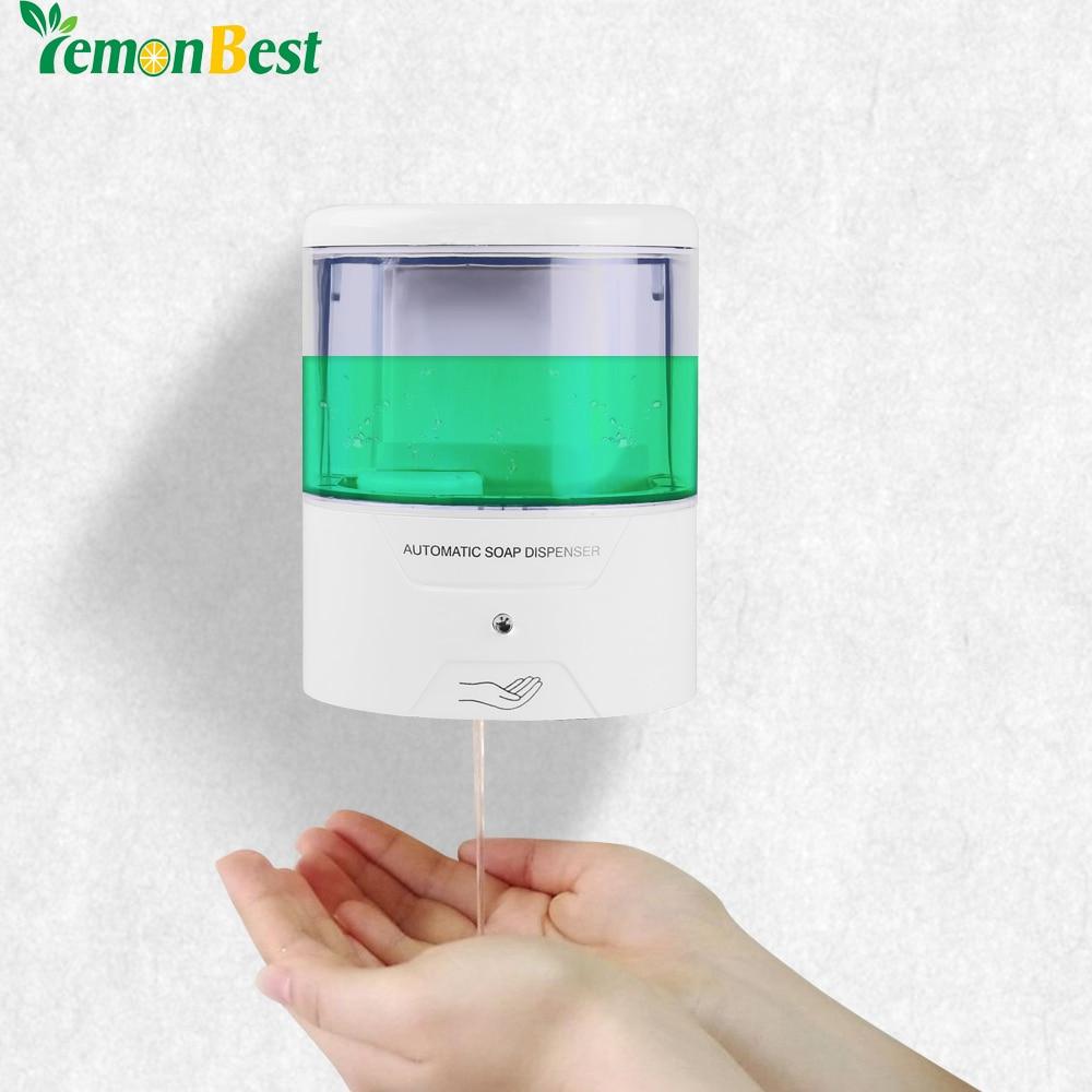 Мыло диспенсер Батарея Питание 600 мл настенный Автоматическая ИК Сенсор touch-Бесплатная Кухня Мыло лосьон насос для кухня Ванная комната