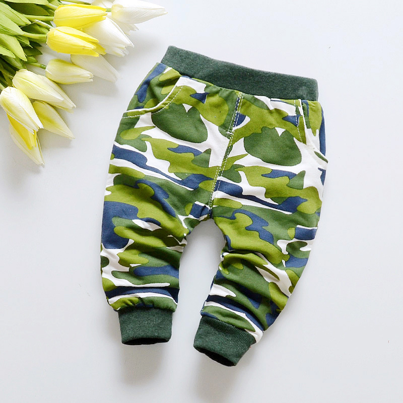 2017 new Hot selling spring military jungle camouflage pattern cotton baby pants 0-2 year baby boy pants Sports pants