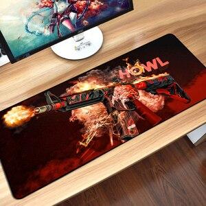 Image 5 - Csゲーマー行くマウスパッド耐久ノンスリップキーボードマウスマットハイパー獣awpボーイフレンド最高ギフトかがりエッジビッグゲームマウスパッド