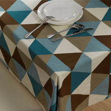 Elegant Simple Tablecloths Triangle Geometric Cotton Tablecloths Hotel Tablecloths  Coffee Table Cloth Waterproof Tablecloths(China)