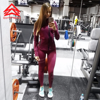 Syprem Women Yoga Leggings Slim Elastic Comfortable High Waist Super Stretch Workout Trousers Girl Sporting Tights
