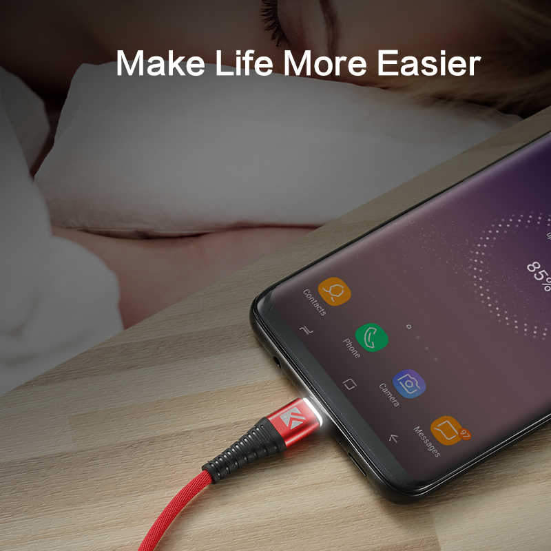 FLOVEME LED Light USB Type C Charger Cable For Samsung Note 9 USB-C Fast  Charging Mobile Phone Data Cable For Huawei Xiaomi Cabo