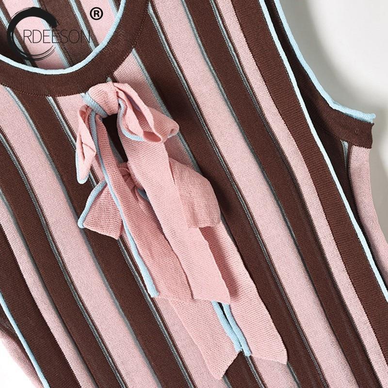 2018 Chandail Haute Taille Deux Vêtements D'été Longue Ordeeson Jupe Casual Sans Manche Ensembles Tricoté Marron Nouvelle Femmes Pièces Tempérament FwCddq