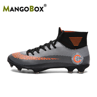 New Luxury Soccer Shoes Men Hot Sale Men Soccer Cleats Brand Mens Pu Leather Sneakers Boy Football Boots Long Spike Soccer Boots