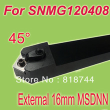Free Shiping MSDNN 16*16*100  45 Degree Lathe Machine Tool Holder For SNMG120408