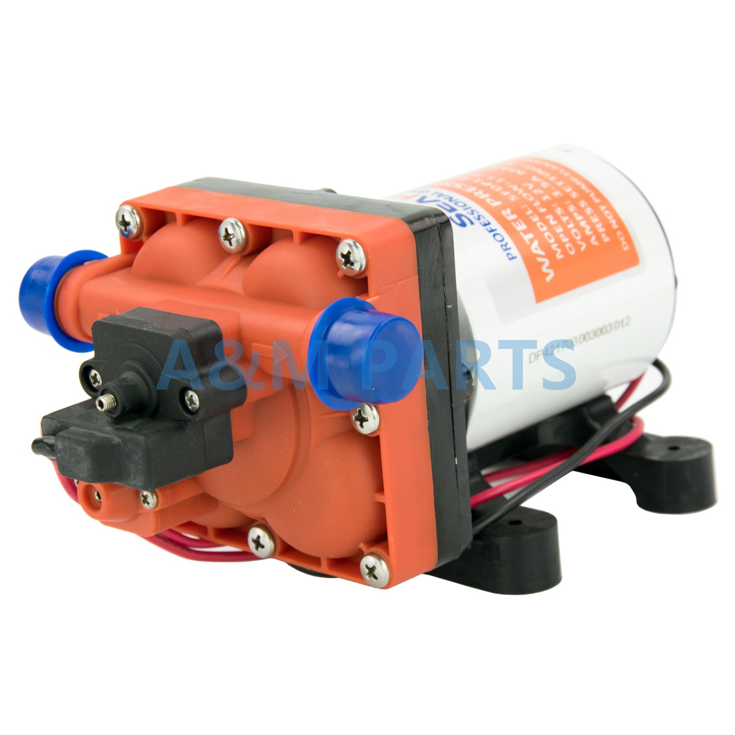 12V 55 PSI 3.0 GPM Self Priming Diaphragm Pump Boat Marine RV Water Pump