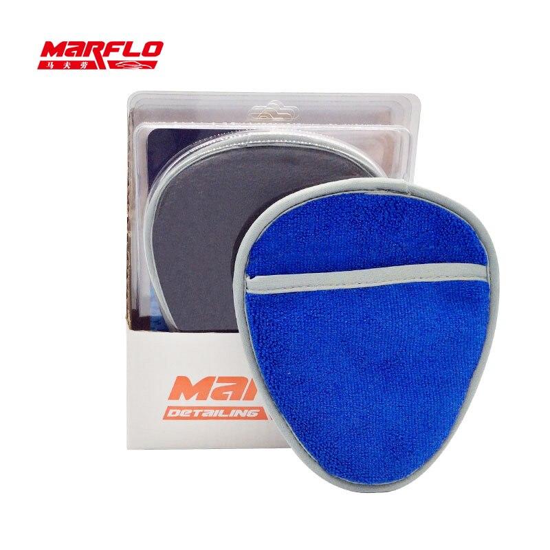 6 Pcs/pack gant de lavage de voiture en argile magique gants de nettoyage de lavage de voiture en tissu microfibre serviette ensemble de gants de lavage de voiture