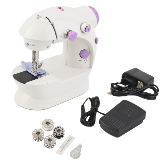 New Two Wire Speed Electric Sewing Machine Household Sewing Tools Extraordinary Portable Mini Sewing Machine