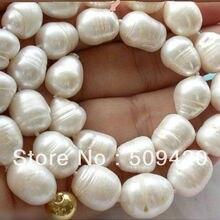 """> красивое 11-14 мм Белое таитянское барокко жемчужное ожерелье 18"""""""