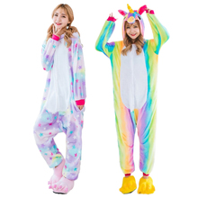 2017 NEW Animal  Stitch Unicorn Panda Bear Koala Onesies Adult Unisex Cosplay Costume Pajamas Sleepwear For Men Women