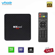 Vmade Original Mini lecteur multimédia intelligent V96S Android 7.0 Allwinner H3 H.265 prend en charge Netflix Flixster YouTube 1GB + 8GB Mini TV Box