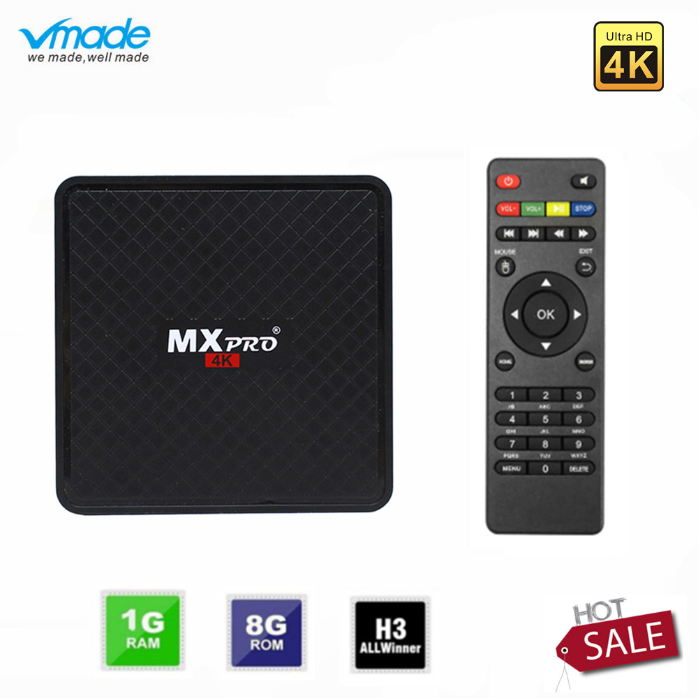 Vmade Original Smart Mini Media Player V96S Android 7.0 Allwinner H3 H.265 Support Netflix Flixster YouTube 1GB+8GB Mini TV Box-in Set-top Boxes from Consumer Electronics