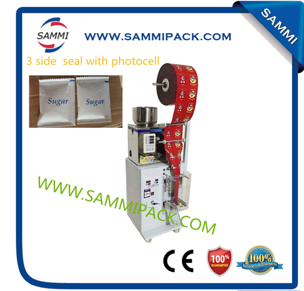 SMFZ-70 3 side seal tea bag packing machine, automatic weigher 2g to 100g / 2g to 200g