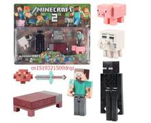 Minecraft Figures toys Minecraft sword/steve /zombie Key Ring Anime online game Backpack Creeper(China)