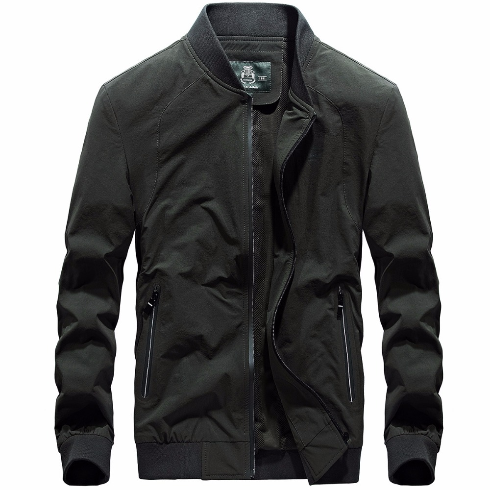 5236c6368 US $89.7  AFS JEEP Jacket Men Overcoat Casual bomber Jackets Mens outwear  Windbreaker coat jaqueta masculina veste homme brand clothing-in Jackets ...