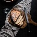 Брендовые высококачественные Разделочные Блоки с ручкой  разделочная доска  деревянные тарелки в европейском стиле для завтрака  хлеба  фр...
