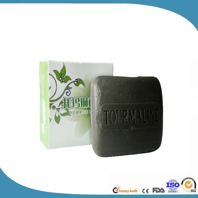 Hot Natural Bamboo Charcoal Soap Black Handmade Soap Remove Blackheads antiaging Wash Face,Bath,Makeup Remover  120g 1