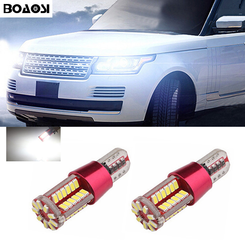BOAOSI 2x Canbus No Error Led T10 Car Bulb Lamp Parking Light For Land Rover v8 discovery 4 2 3 x8 freelander 2 defender A8 a9