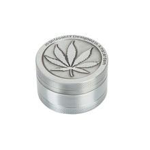New Metal Vintage 3 Layer 40mm Leaf Magnetic Herbal Herb Grinder Tobacco Cigar Mill Smoke Spice Crusher Maker 2019