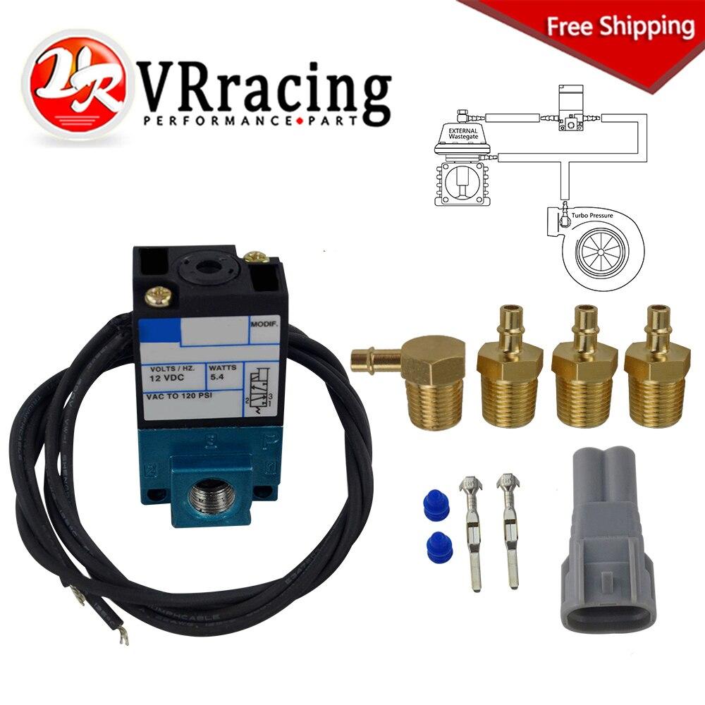 VR 3 ecus Puerto electrónicos Turbo Boost de válvula solenoide de control de 12V 120PSI 5,4 vatios